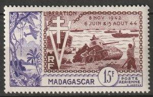 Madagascar 1954 Sc C57 air post MLH*