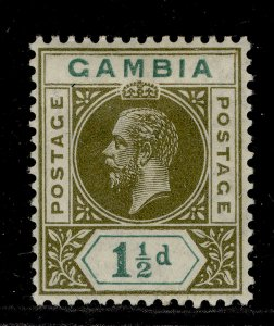 GAMBIA GV SG110, 1½d olive-green & blue-green, M MINT.