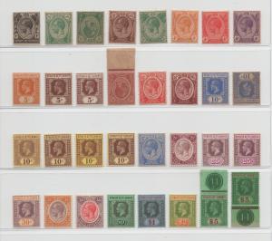 Malaya Straits Settlements - 1921- SG 218-240a - MNH