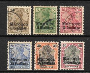 MOROCCO GERMAN  1900  PART SET 6   M&U