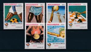 [60914] Mozambique 1987 Olympic games Seoul Football Basketball Chess MNH
