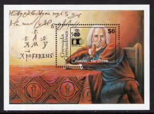 Grenada Grenadines 1411 Columbus Souvenir Sheet MNH VF