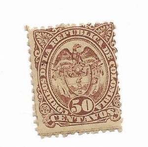 Colombia #122 MH - Stamp - CAT VALUE $3.00