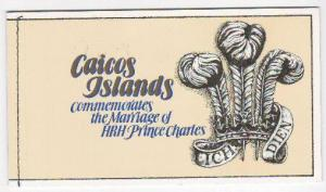 Caicos Islands #12 Self Adhesive Booklet MNH