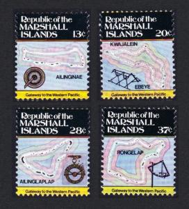 Marshall Is. Map and Navigations 4v 2nd Series SG#9=16 SC#39=46