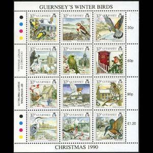 GUERNSEY 1990 - Scott# 445 Sheet-Christmas NH