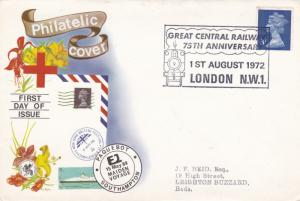GB 1972 Great Central Railway 75th Anniversary Cover VGC
