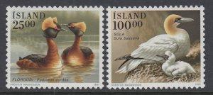 Iceland 721-722 Birds MNH VF