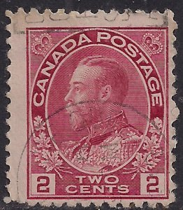 Canada 1911 - 22 KGV 2ct Pale Rose used SG 202 ( J1102 )