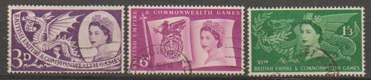 Great Britain SG 567 - 569 Used
