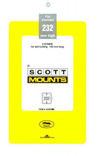 Scott/Prinz Souvenir Sheets & Small Panes Stamp Mount Size: 182x232 #1039 Black