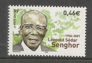 FRANCE  2925  MNH,  LEOPOLD SEDAR SENGHOR
