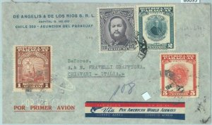 86095 - PARAGUAY - POSTAL HISTORY - AIRMAIIL COVER to ITALY 1949 -   PAN-AM