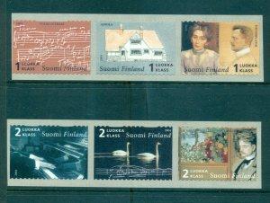 Finland - Sc# 1204-5. 2004 Composer Sibelius. MNH Strips of 3. $24.00.