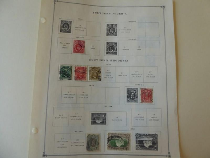 Southern Rhodesia 1924-1938 Mint/Used Stamp Collection on Scott Intl Album Pages