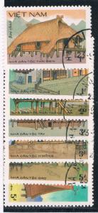 Vietnam 1648-54 Set Used Houses (V0029)