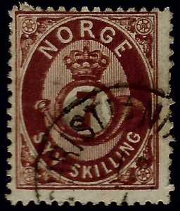 Norway #21 Used F-VF SCV$65...Chance to buy a Bargain!
