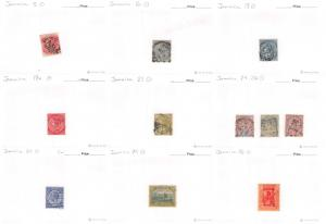 Lot of 36 Jamaica Used Stamps Scott Range 8-251 #142849 R