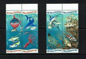 New Zealand: 1998, International Year of the Ocean,  MNH set