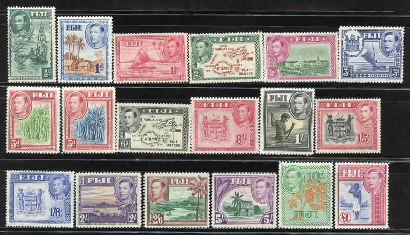 FIJI GEO VI   SET SCOTT#117/31B   MINT LIGHT  HINGED--SCOTT $199.00