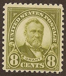 560 MNH,  8c. Grant, scv: $90