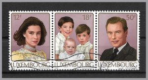 LUXEMBOURG 1988 - Royalty strip of 3 from Juvalux souvenir sheet - Used!
