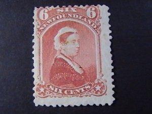 NEW FOUNDLAND # 35-UNUSED----DULL ROSE----1870