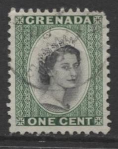 Grenada -Scott 172 -  QEII - Definitive Issue -1953 - VFU - Single 1c Stamp