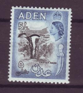 J16365 JLstamps 1953-9 aden mh #58a dk blue & black queen view