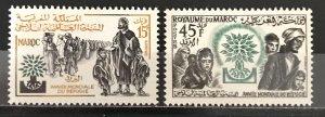 Morocco 1960 #36-7 World Refugee Year, MNH, CV $.80
