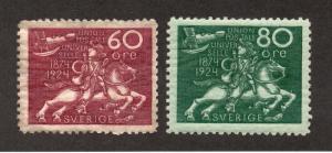 Sweden - Sc# 223 (dist gum) & 224 MH -  Lot 1218193
