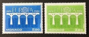 Monaco 1984 #1424-5,MNH, CV $4