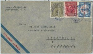 69277 - GUATEMALA - POSTAL HISTORY -   AirMail COVER to GERMANY 1934 - NICE!