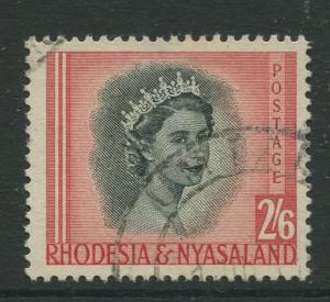 Rhodesia & Nyasaland -Scott 152 - QEII Definitive -1954 - FU Single  2/6p Stamp