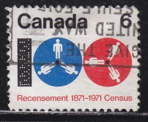 Canada 542 Used 1971 Census Canada 6¢