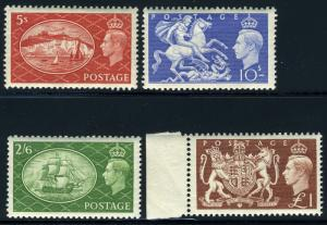 GREAT BRITAIN SC# 286-9 SG# 509-12 MINT NEVER HINGED AS SHOWN