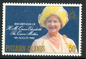 PITCAIRN ISLANDS 1980 QUEEN MOTHER'S 80th Birthday Issue Sc 193 MNH