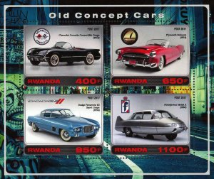 Old Concept Car Souvenir Sheet of 4 Stamps Mint NH