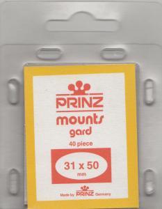 PRINZ CLEAR MOUNTS 31X50 (40) RETAIL PRICE $3.99