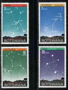 Botswana Scott 84-87 MNHOG - 1972 Constellation Issue - SCV $6.40