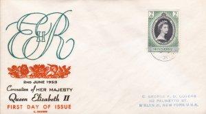 Montserrat # 127, Queen Elizabeth's Coronation First Day Cover,