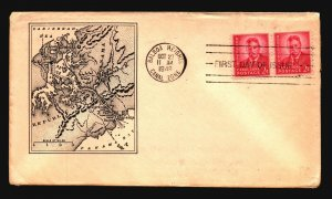 Canal Zone SC# 137 FDC / Pair / Cacheted (I) - L1591