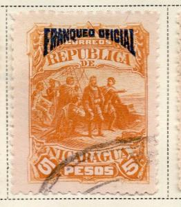 Nicaragua 1892 Early Issue Fine Used 5P. Official Optd 323714