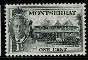MONTSERRAT SG123 1951 1c BLACK MNH