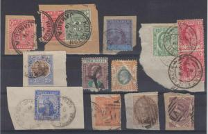 BC 1880-1910 GROUP OF 2 SINGLES & 9 PIECES KEY VALUES & GOOD CANCELS BERMUDA, HK