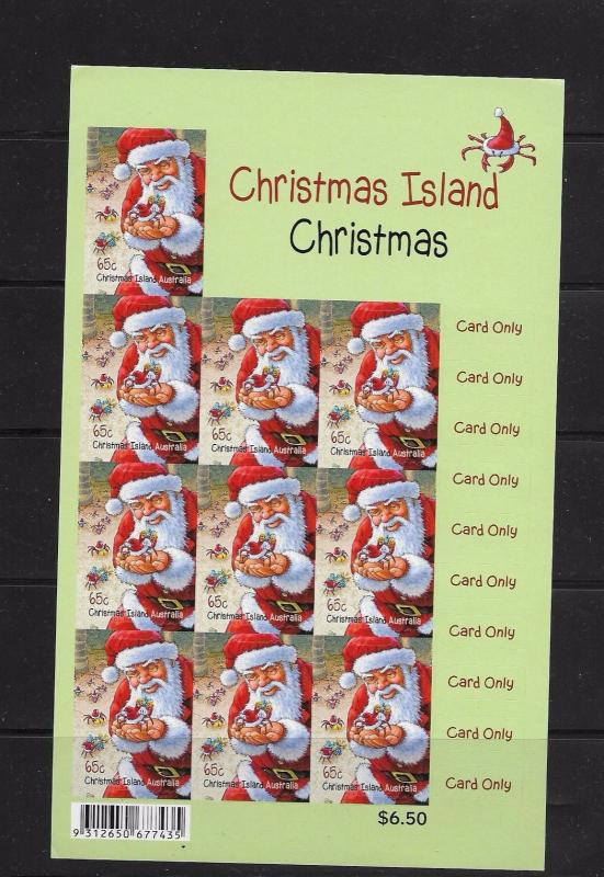 O) 2011 AUSTRALIA, CHRISTMAS - CARD ONLY, RED CRABS-CRUSTACEANS, SANTA CLAUS, AD