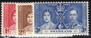 Swaziland Scott #24-26 MLH Complete Set