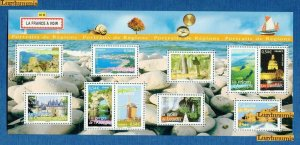 2006 FRANCE - SG:MS 4209 - FRENCH REGIONS (8)- UMM - SPLIT INTO 2 ON MIDDLE PERF