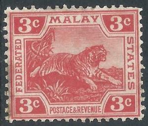 Malaya, Sc #42, 3c MH