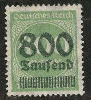 Germany Scott 254 MH* 1924 surcharged stamp